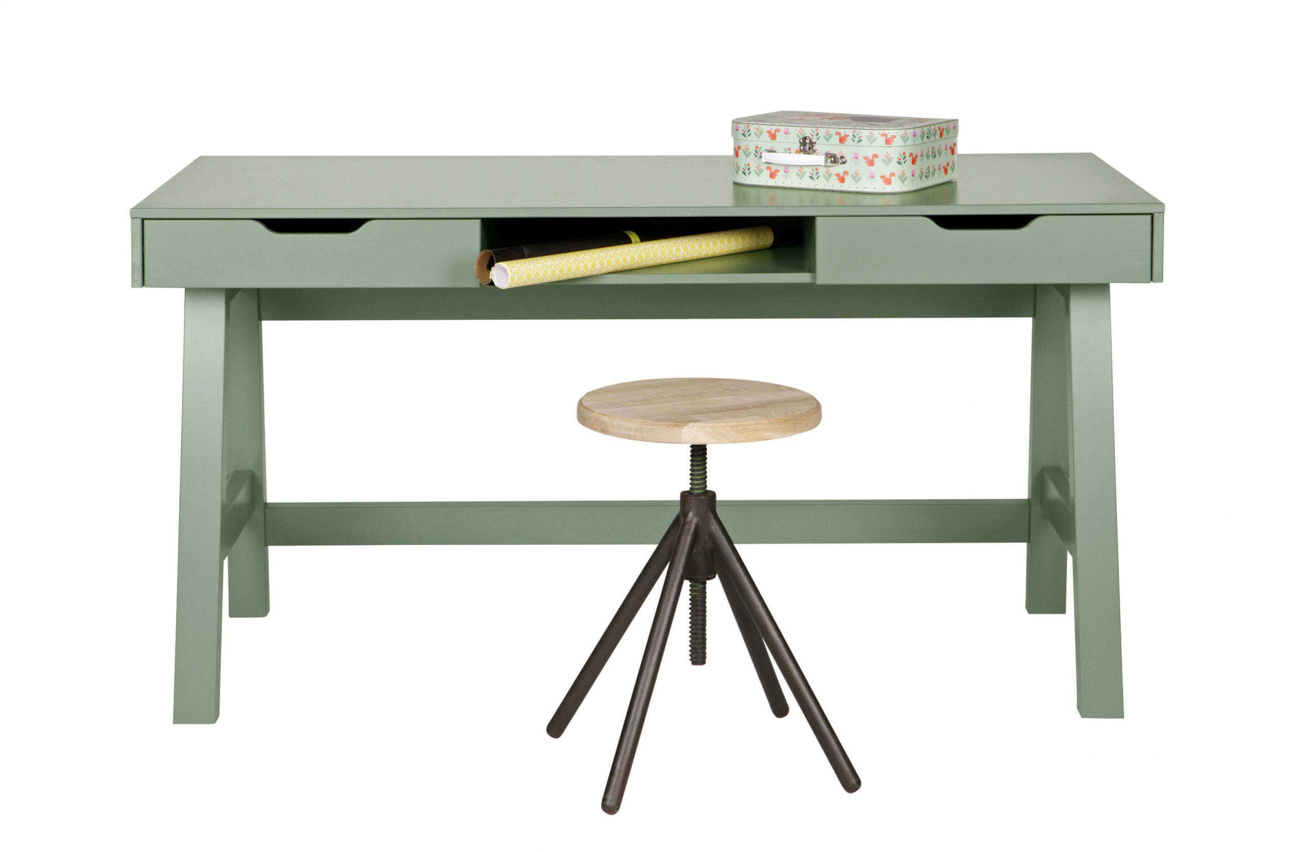 skandynawskie biurko zielone